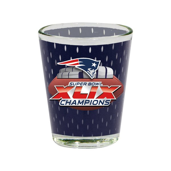 Super Bowl XLIX Champs 2oz Mesh Shot Glass