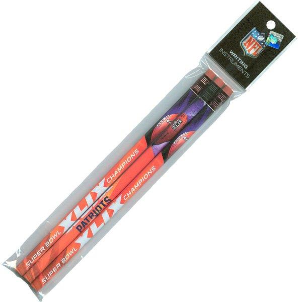 Super Bowl XLIX Champions Pencils-3pk