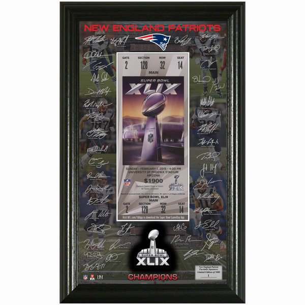 Super Bowl XLIX Champions Signature Ticket