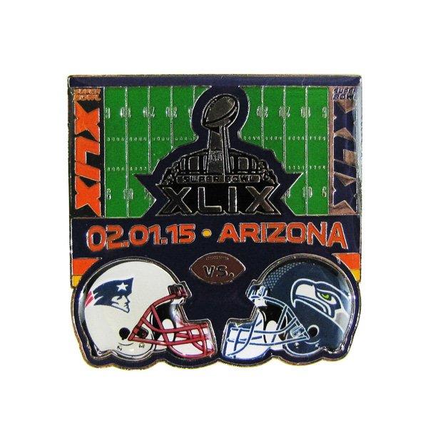 Super Bowl XLIX Dueling Lapel Pin