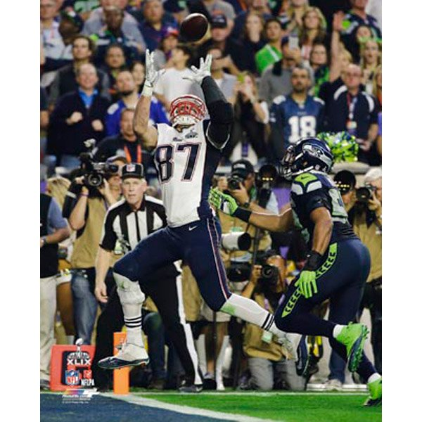Super Bowl XLIX Gronkowski TD 8x10 Photo