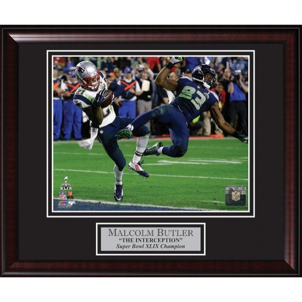 Super Bowl XLIX Butler Interception Framed Photo