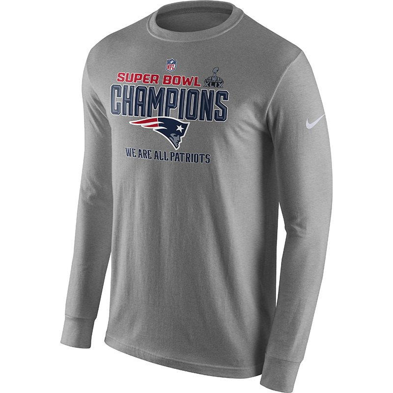 Super Bowl XLIX Champs Lockerroom L/S Tee-Gray by Nike