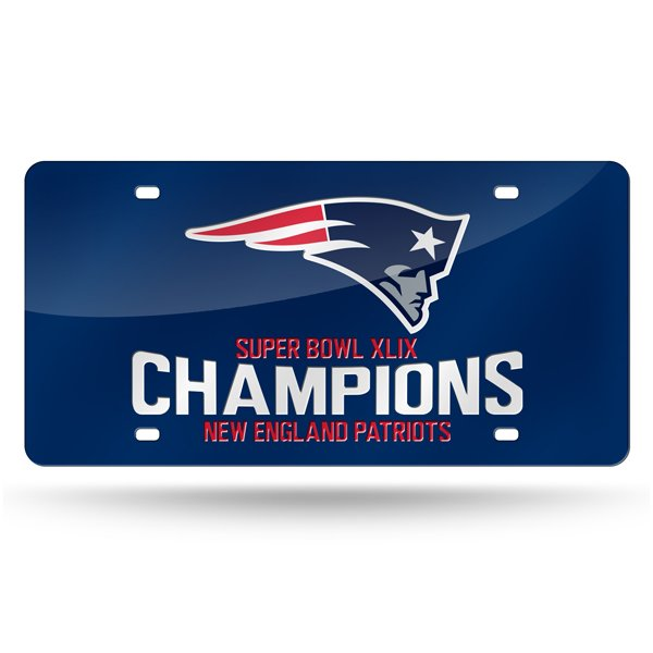 Super Bowl XLIX Champs Laser Cut Auto Tag