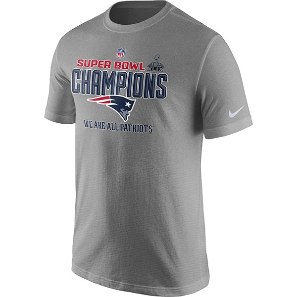 Super Bowl XLIX Champions Lockerroom Tee-Gray by Nike
