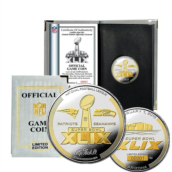 SB49 Official 2-Tone Flip Coin