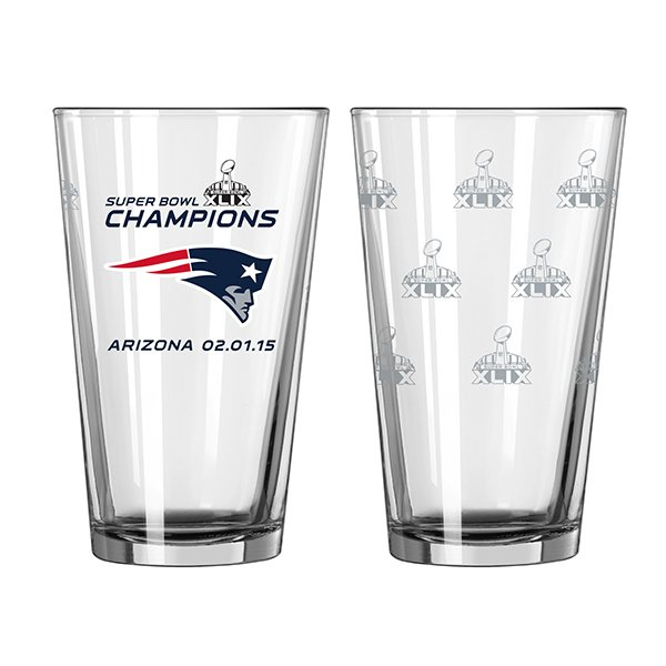 Super Bowl XLIX Champs 16oz Pint Glass