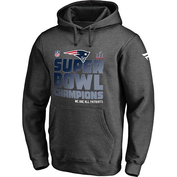 Super Bowl LI Champions Locker Room Hood-Charcoal