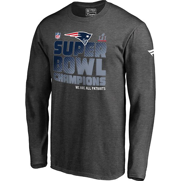 Super Bowl LI Champions Locker Room Long Sleeve Tee-Charcoal