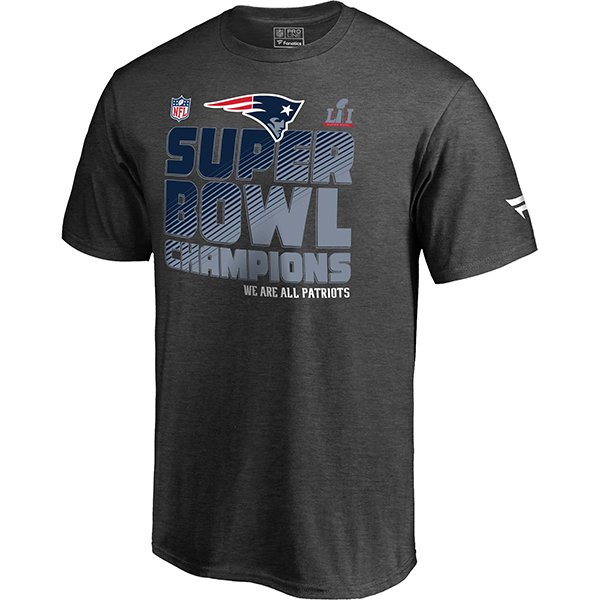 Super Bowl LI Champions Locker Room Tee-Charcoal