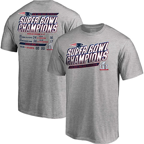 Super Bowl LI Schedule Tee-Gray