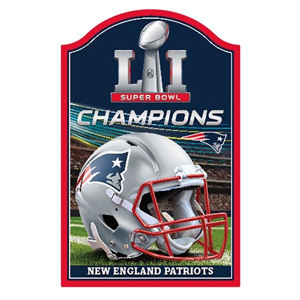 Super Bowl LI Champions 11x17 Wood Sign