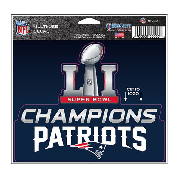 Super Bowl LI Champions 5x6 Multi Use Decal