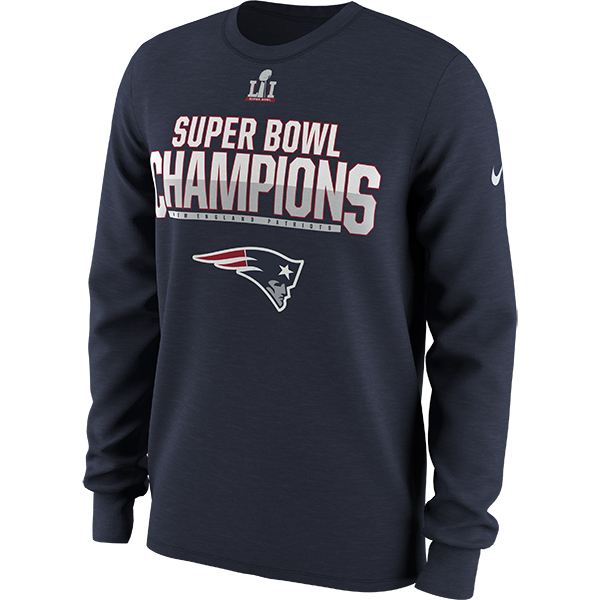 Nike Super Bowl LI Parade Long Sleeve Tee-Navy