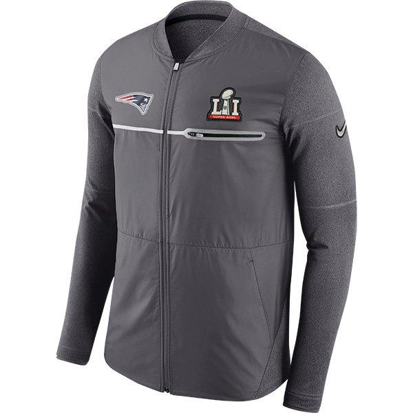Nike Super Bowl LI Full Zip Hybrid Jacket-Gray