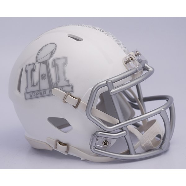 Super Bowl LI Logo Mini Helmet-White