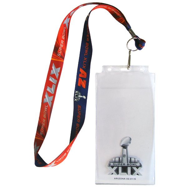 Super Bowl XLIX Ticket Holder Lanyard