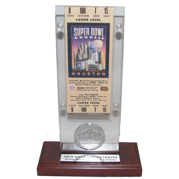 Super Bowl 38 Ticket/Coin Desktop