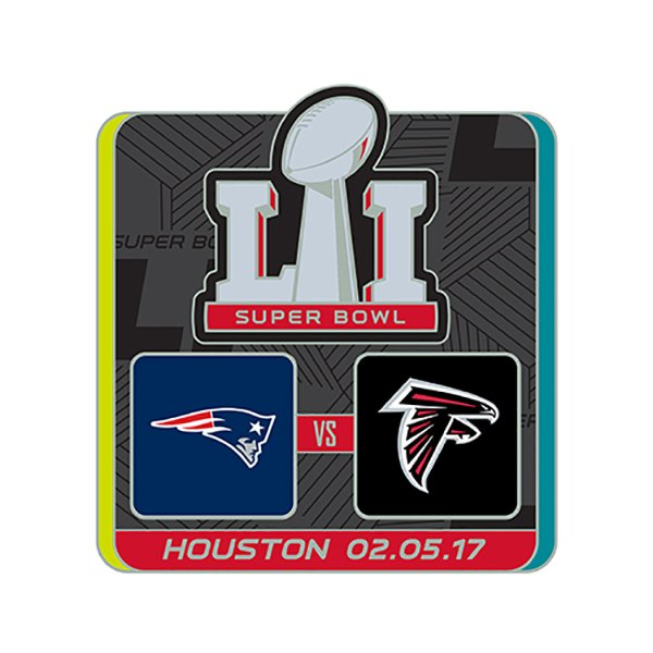 Super Bowl LI Dueling Lapel Pin