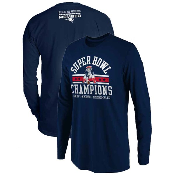 4X Champs Throwback STM L/S Tee-Navy