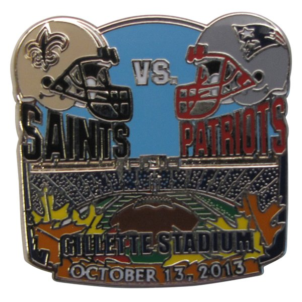 Saints vs Patriots Game Day Pin 10-13-13