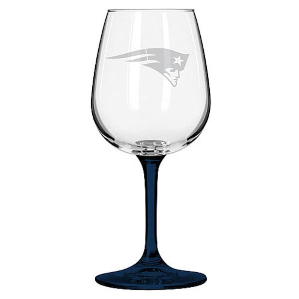 Satin Etched Logo 12oz Wine Glass