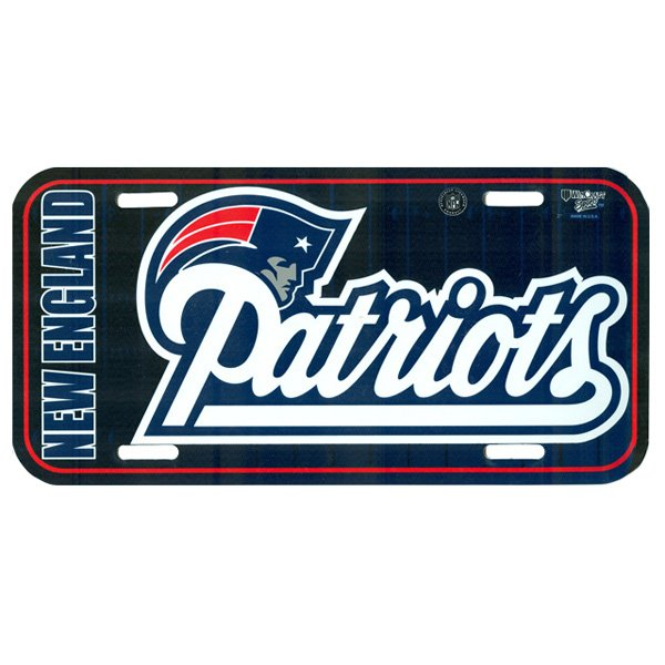 Patriots Script License Plate-Plastic
