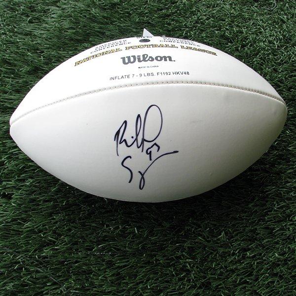 Autographed Richard Seymour 3 Panel Football
