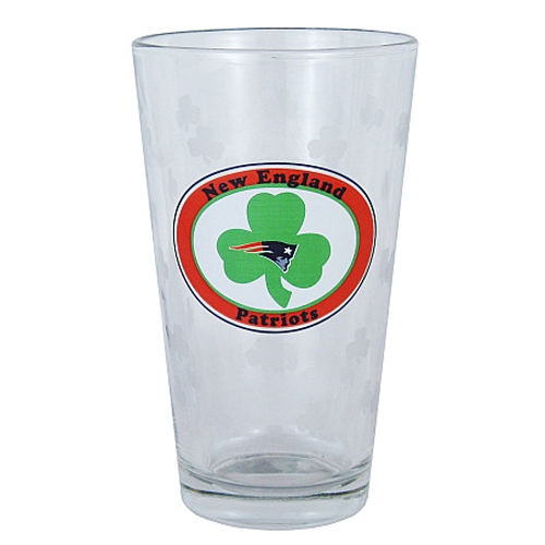 Patriots Logo 16oz Shamrock Pint Glass