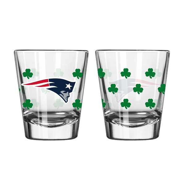 Patriots Shamrock 2oz Shot Glass