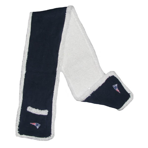 Patriots Sherpa Scarf-Navy