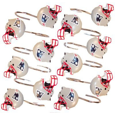 Patriots Shower Curtain Rings(12)