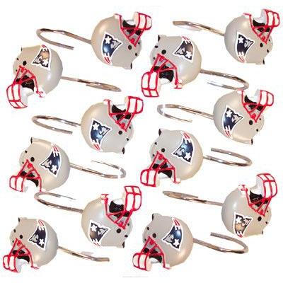 Patriots Shower Curtain Rings(12)