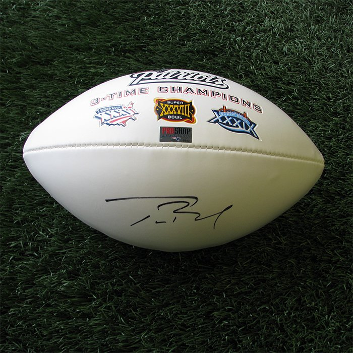 Autographed Tom Brady 3X Champs Ball