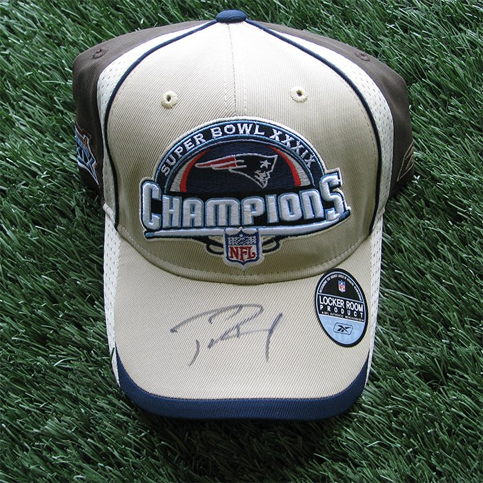 Autographed Tom Brady Super Bowl 39 Champs Cap