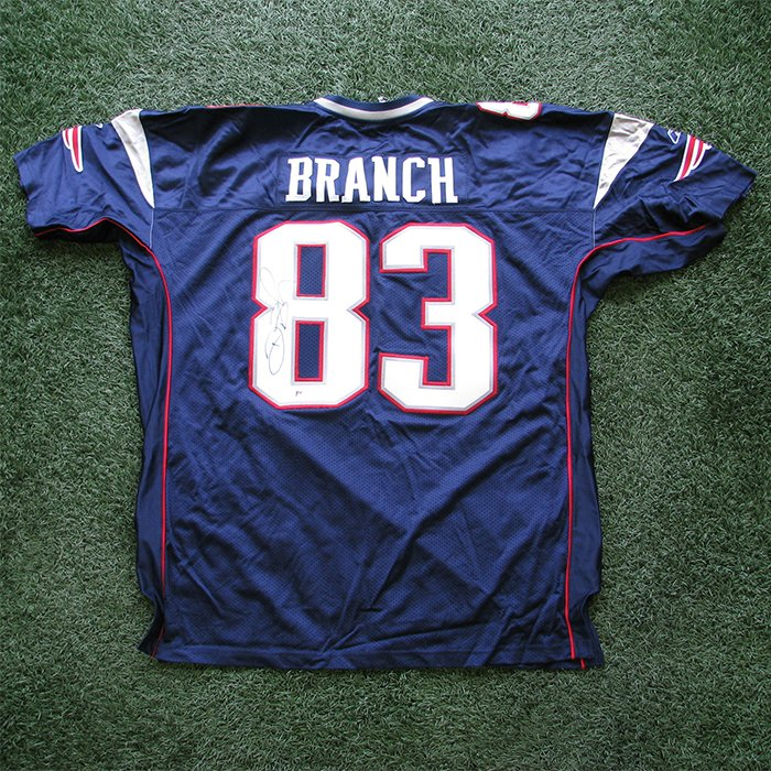 Autographed Deion Branch Authentic Jersey