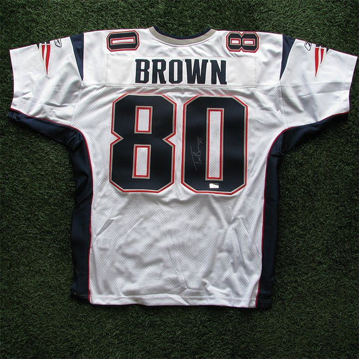 Autographed Troy Brown Authentic Jersey