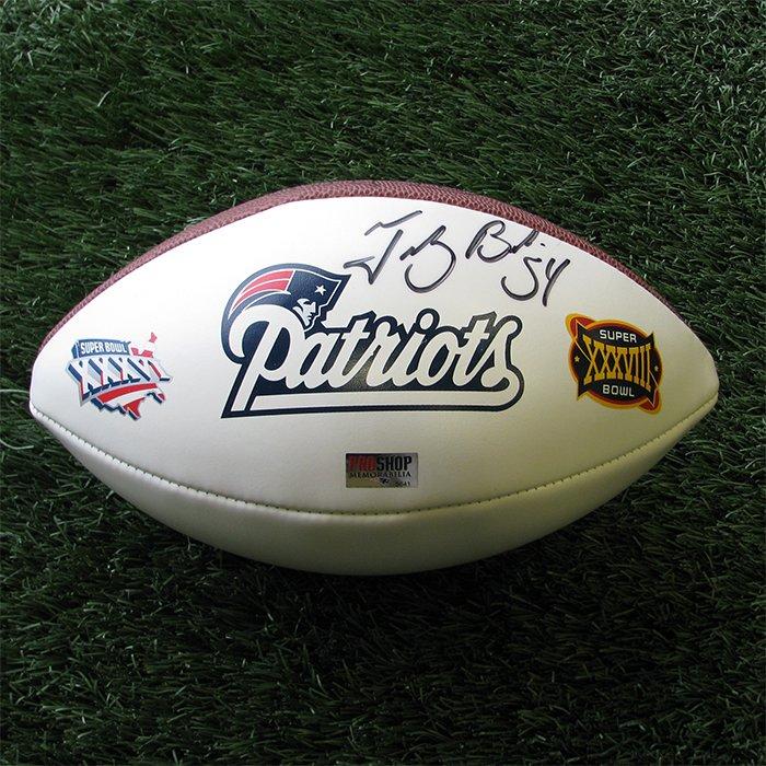 Autographed Tedy Bruschi SB36/SB38 Ball