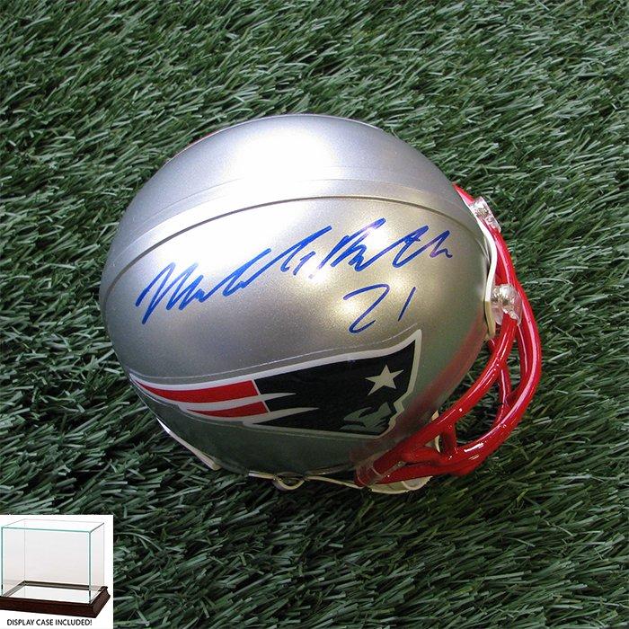 Autographed Malcolm Butler Mini Helmet w/Case