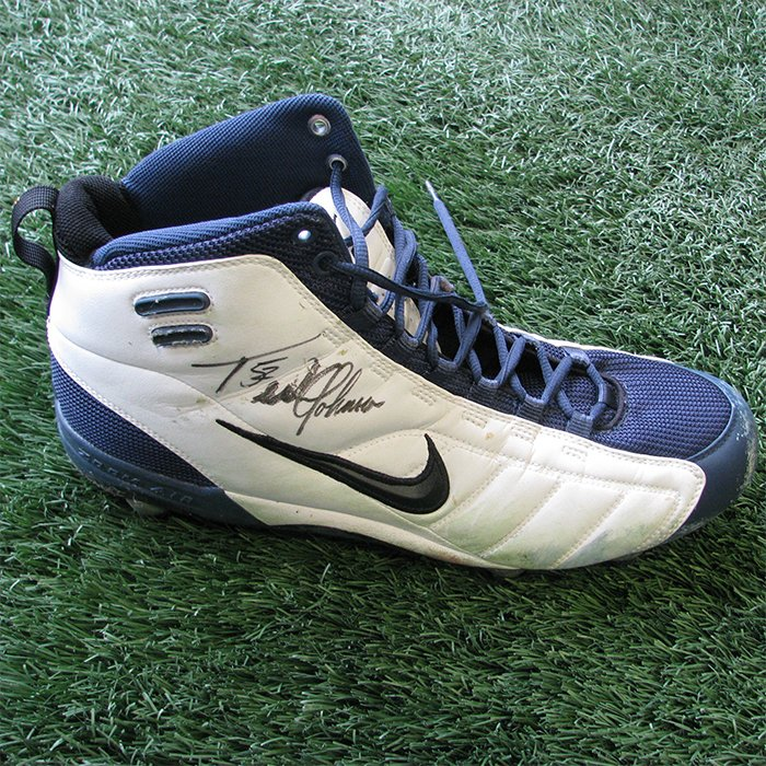 Autographed Ted Johnson Game Worn Cleat