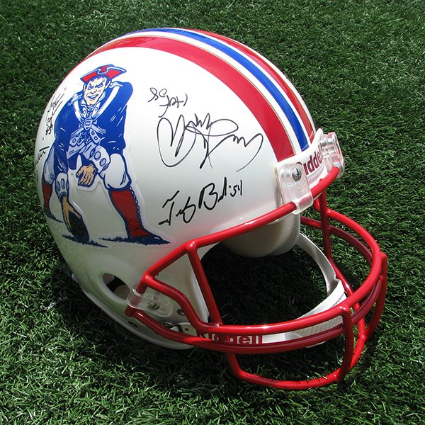 Patriots Hall of Fame Autographed Throwback Helmet