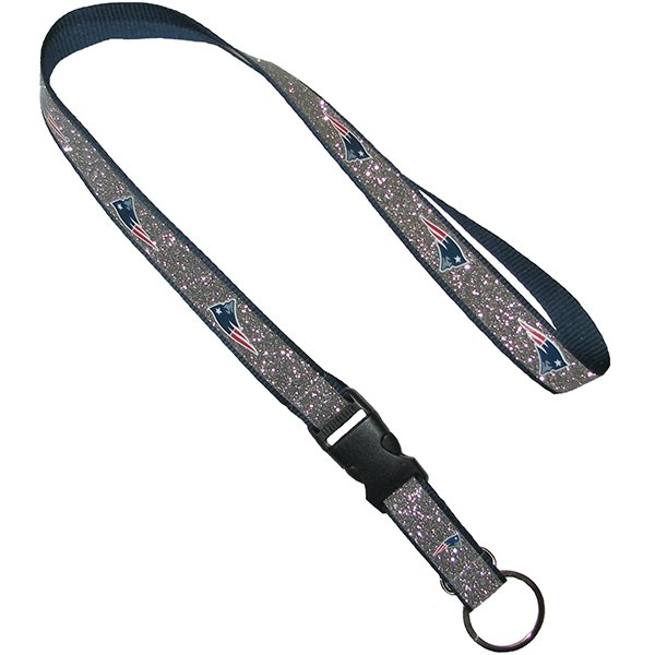 Patriots Sparkle Lanyard-Silver