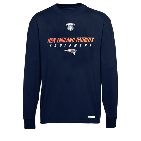 RBK Equipment L/S Speedwick Tee-Navy