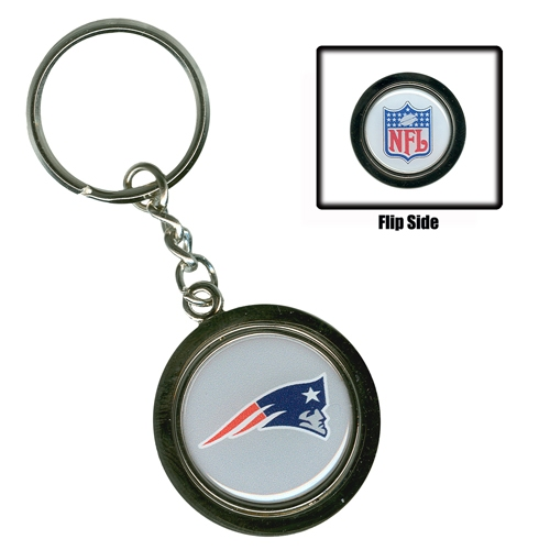 Spinning Logo/NFL Keychain