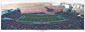 Patriots vs Dolphins Panoramic Print