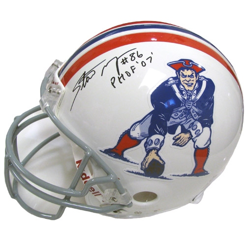 Stanley Morgan Autographed Throwback Authentic Helmet