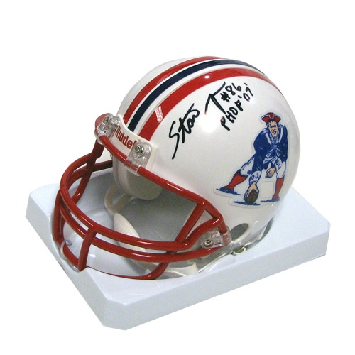 Stanley Morgan Autographed Throwback Mini Helmet 