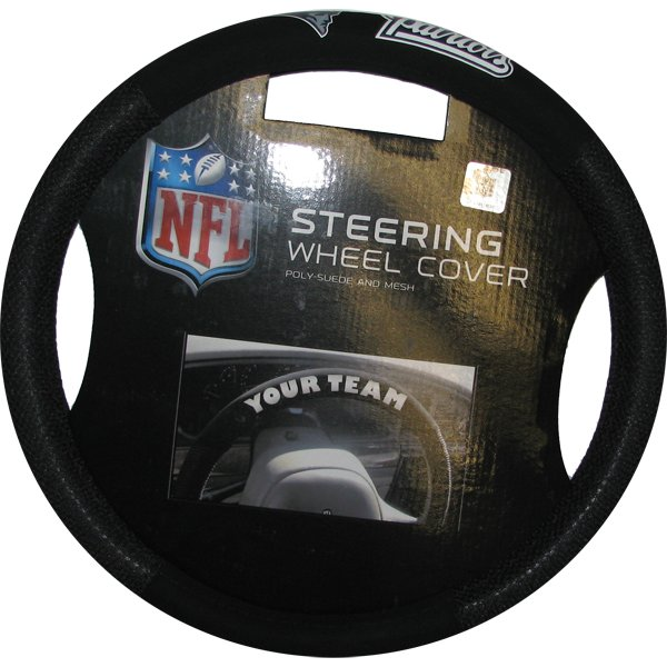 Patriots Poly-Suede Steering Wheel Cover