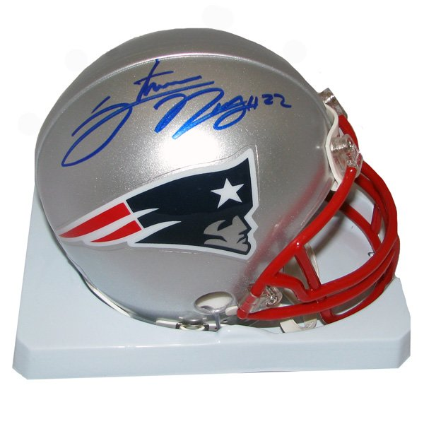 Stevan Ridley Signed Mini Helmet