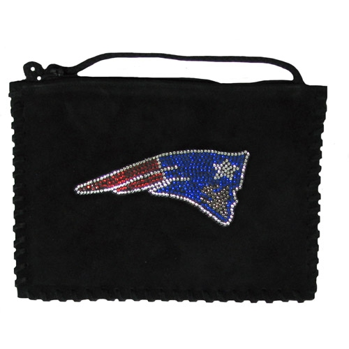 Patriots Sueded Crystal Side Bag